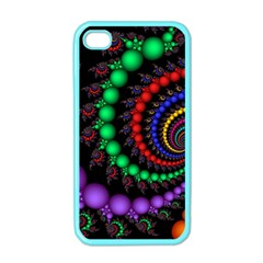 Fractal Background With High Quality Spiral Of Balls On Black Apple Iphone 4 Case (color) by Amaryn4rt