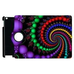 Fractal Background With High Quality Spiral Of Balls On Black Apple Ipad 2 Flip 360 Case by Amaryn4rt