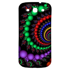 Fractal Background With High Quality Spiral Of Balls On Black Samsung Galaxy S3 S Iii Classic Hardshell Back Case by Amaryn4rt