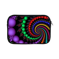 Fractal Background With High Quality Spiral Of Balls On Black Apple Ipad Mini Zipper Cases by Amaryn4rt