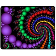 Fractal Background With High Quality Spiral Of Balls On Black Double Sided Fleece Blanket (medium)  by Amaryn4rt