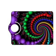 Fractal Background With High Quality Spiral Of Balls On Black Kindle Fire Hd (2013) Flip 360 Case by Amaryn4rt