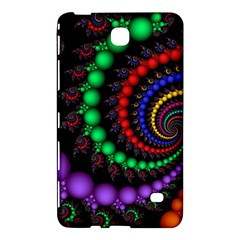 Fractal Background With High Quality Spiral Of Balls On Black Samsung Galaxy Tab 4 (8 ) Hardshell Case  by Amaryn4rt
