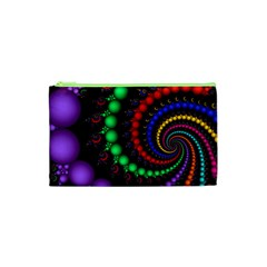 Fractal Background With High Quality Spiral Of Balls On Black Cosmetic Bag (xs) by Amaryn4rt