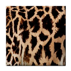 Yellow And Brown Spots On Giraffe Skin Texture Tile Coasters by Amaryn4rt