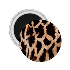 Yellow And Brown Spots On Giraffe Skin Texture 2 25  Magnets by Amaryn4rt