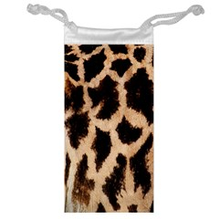 Yellow And Brown Spots On Giraffe Skin Texture Jewelry Bag by Amaryn4rt
