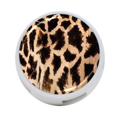 Yellow And Brown Spots On Giraffe Skin Texture 4-Port USB Hub (One Side) by Amaryn4rt