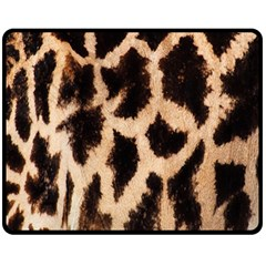 Yellow And Brown Spots On Giraffe Skin Texture Fleece Blanket (medium)  by Amaryn4rt