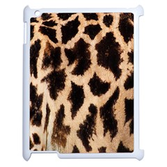 Yellow And Brown Spots On Giraffe Skin Texture Apple Ipad 2 Case (white) by Amaryn4rt