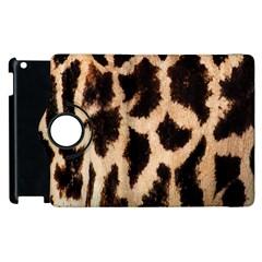 Yellow And Brown Spots On Giraffe Skin Texture Apple Ipad 2 Flip 360 Case by Amaryn4rt