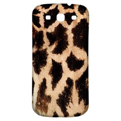 Yellow And Brown Spots On Giraffe Skin Texture Samsung Galaxy S3 S Iii Classic Hardshell Back Case by Amaryn4rt