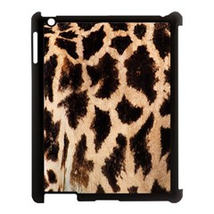 Yellow And Brown Spots On Giraffe Skin Texture Apple Ipad 3/4 Case (black) by Amaryn4rt