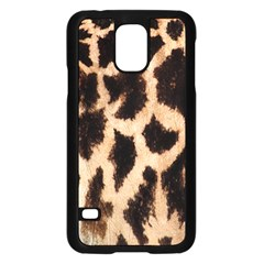 Yellow And Brown Spots On Giraffe Skin Texture Samsung Galaxy S5 Case (black) by Amaryn4rt