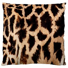 Yellow And Brown Spots On Giraffe Skin Texture Large Flano Cushion Case (one Side) by Amaryn4rt