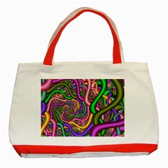 Fractal Background With Tangled Color Hoses Classic Tote Bag (red) by Amaryn4rt