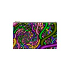 Fractal Background With Tangled Color Hoses Cosmetic Bag (small)  by Amaryn4rt