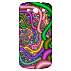 Fractal Background With Tangled Color Hoses Samsung Galaxy S3 S Iii Classic Hardshell Back Case by Amaryn4rt