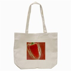 Red Pepper And Bubbles Tote Bag (cream) by Amaryn4rt