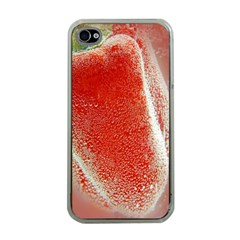 Red Pepper And Bubbles Apple Iphone 4 Case (clear) by Amaryn4rt