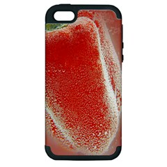 Red Pepper And Bubbles Apple Iphone 5 Hardshell Case (pc+silicone) by Amaryn4rt