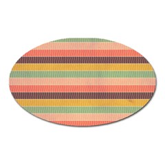 Abstract Vintage Lines Background Pattern Oval Magnet