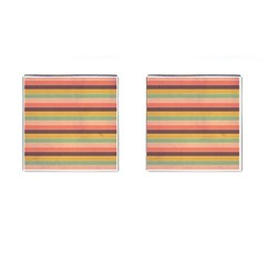 Abstract Vintage Lines Background Pattern Cufflinks (square)