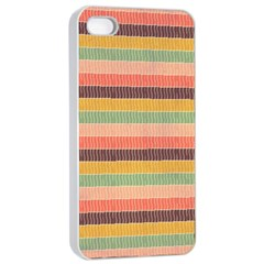 Abstract Vintage Lines Background Pattern Apple Iphone 4/4s Seamless Case (white) by Amaryn4rt