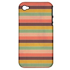 Abstract Vintage Lines Background Pattern Apple Iphone 4/4s Hardshell Case (pc+silicone) by Amaryn4rt