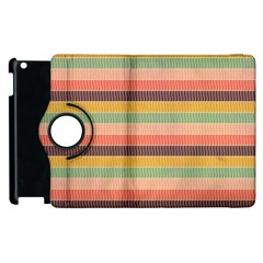Abstract Vintage Lines Background Pattern Apple Ipad 2 Flip 360 Case by Amaryn4rt