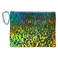 Construction Paper Iridescent Canvas Cosmetic Bag (xxl) by Amaryn4rt