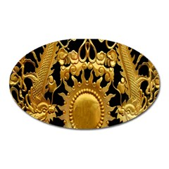 Golden Sun Oval Magnet by Amaryn4rt