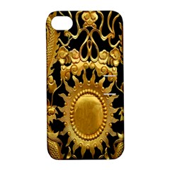 Golden Sun Apple Iphone 4/4s Hardshell Case With Stand by Amaryn4rt