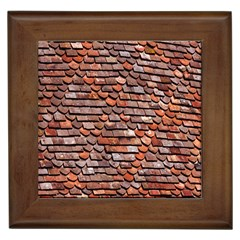 Roof Tiles On A Country House Framed Tiles by Amaryn4rt