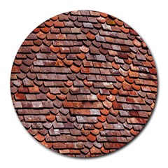 Roof Tiles On A Country House Round Mousepads by Amaryn4rt