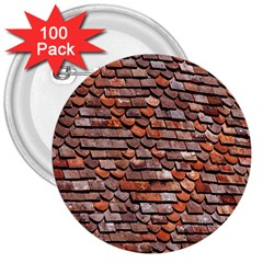 Roof Tiles On A Country House 3  Buttons (100 Pack)  by Amaryn4rt