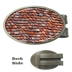 Roof Tiles On A Country House Money Clips (oval)  by Amaryn4rt