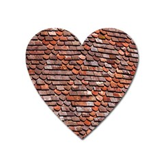 Roof Tiles On A Country House Heart Magnet by Amaryn4rt