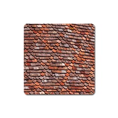 Roof Tiles On A Country House Square Magnet by Amaryn4rt