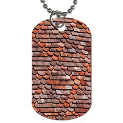 Roof Tiles On A Country House Dog Tag (one Side) by Amaryn4rt