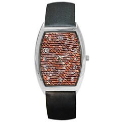 Roof Tiles On A Country House Barrel Style Metal Watch by Amaryn4rt