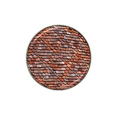 Roof Tiles On A Country House Hat Clip Ball Marker by Amaryn4rt
