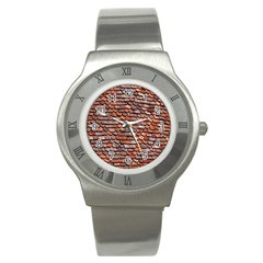 Roof Tiles On A Country House Stainless Steel Watch by Amaryn4rt