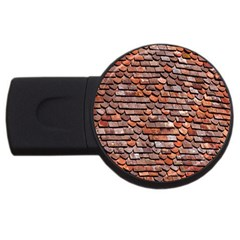 Roof Tiles On A Country House Usb Flash Drive Round (4 Gb) by Amaryn4rt