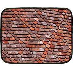 Roof Tiles On A Country House Fleece Blanket (mini) by Amaryn4rt