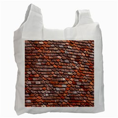 Roof Tiles On A Country House Recycle Bag (two Side)  by Amaryn4rt
