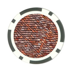 Roof Tiles On A Country House Poker Chip Card Guard (10 Pack) by Amaryn4rt
