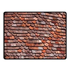 Roof Tiles On A Country House Fleece Blanket (small) by Amaryn4rt