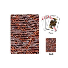 Roof Tiles On A Country House Playing Cards (mini)  by Amaryn4rt