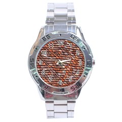 Roof Tiles On A Country House Stainless Steel Analogue Watch by Amaryn4rt